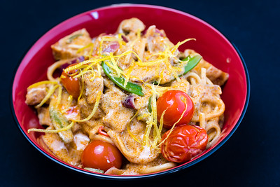 Pork red curry