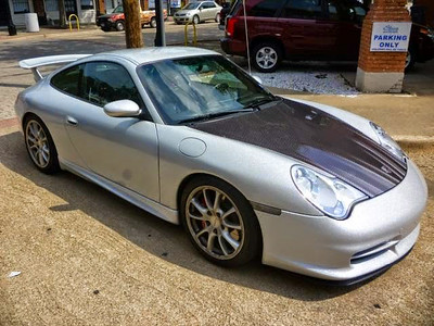 Metallic Silver wrap on a Porsche GT3 in Dallas, TX.www.skinzwraps.com