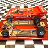"The chassis looks like a typical scratchbuilt hardbody chassis, but it incorporates a ""rear"" mounted sidewinder motor (TSR D3 motor)."
