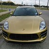 Check out this 2015 Porsche Macan!!  <br />  Gloss gold metallic wrap with gloss metallic silver overlays