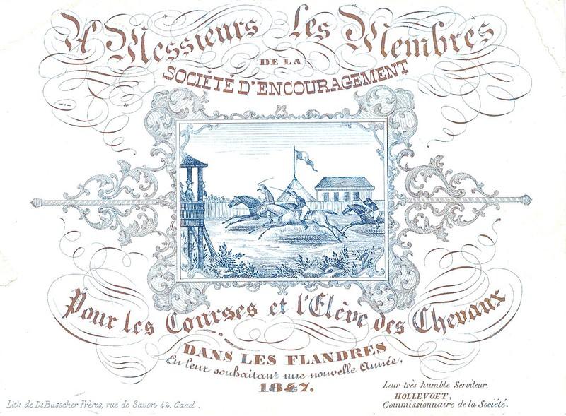 De paardenrennen, 1847.
