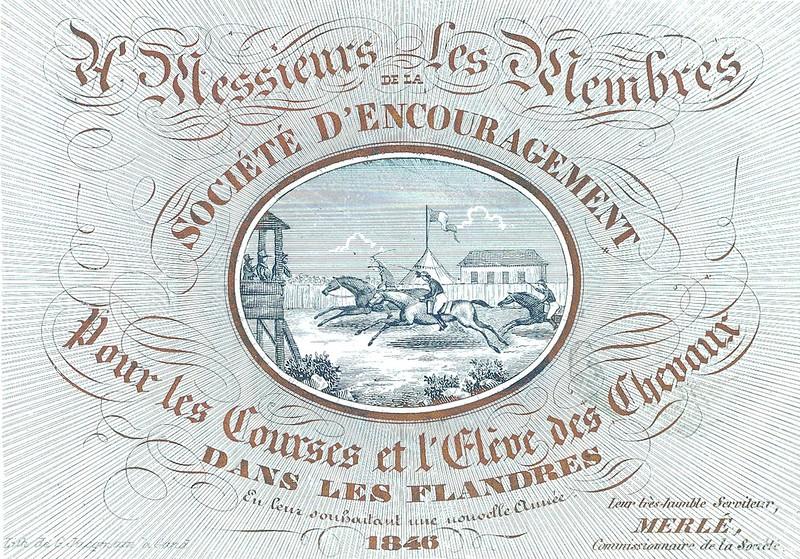 De paardenrennen, 1846.