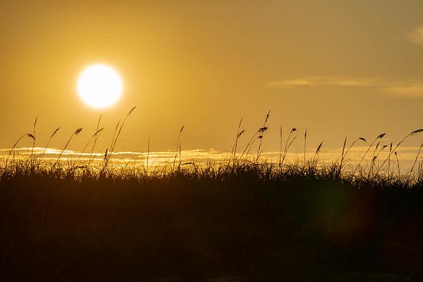 Sun sinking into the Dunes
