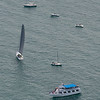 Port Huron to Mackinac sailboat race  from airplane