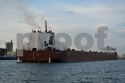 Stewart J. Cort leaving  Port of Milwaukee after Winter layover of 2014-2015.