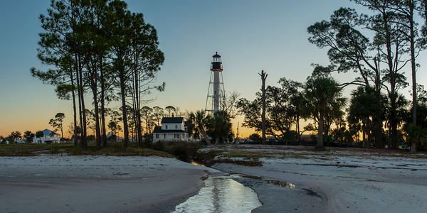 Lighthouse in Port St. Joe from the Beach