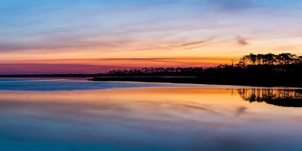 St. Joe Bay Sunrise Colors