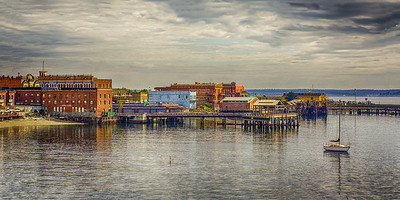 15.     Port Townsend Waterfront on a cloudy day