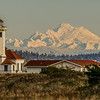 Point Wilson Lighthouse with Mt. Baker