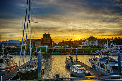 19.     Point Hudson Marina Yellow Sunset 1
