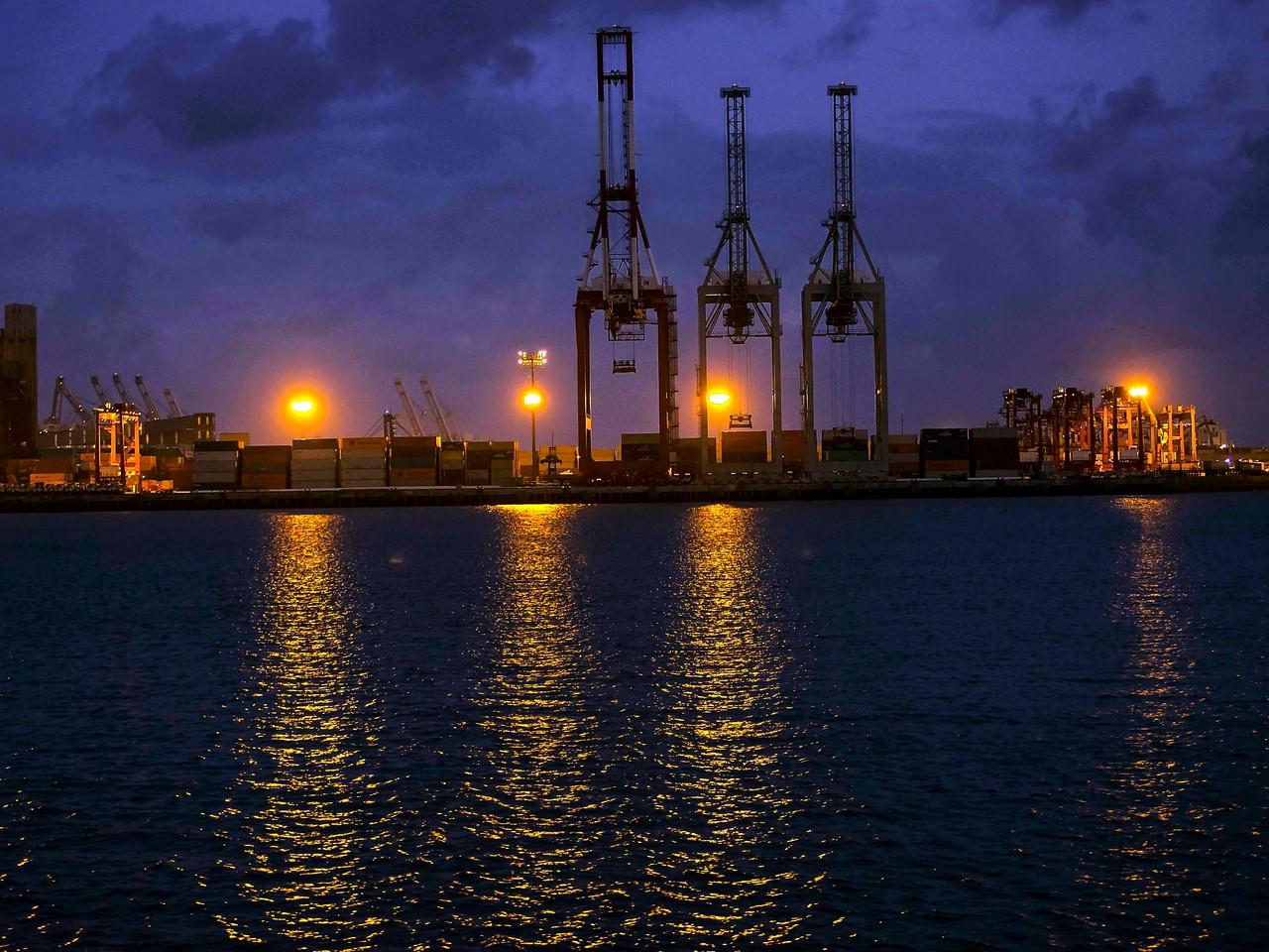 Dusk cloaks the Port