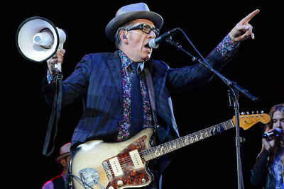 Elvis Costello performs at the Sasquatch Music Festival 2013. (Matthew Lamb)