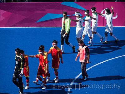 Mens Blind Soccer Semi-Final - Iran vs China Paralympics London 2012 Games.  Blind Mens Football Semi Final - China vs Iran  Olympus E3
