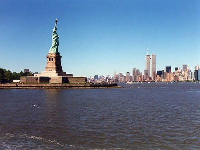 Lady Liberty and Manhattan June 2000