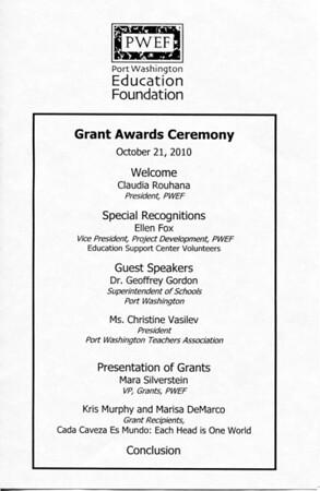 PWEF 2010 Grant Award Ceremonty