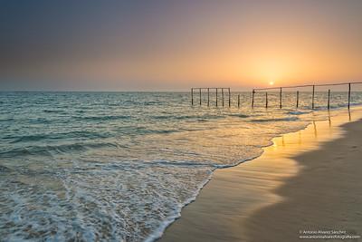 Puesta de sol en las playas de Doñana / Sunset on the beaches of Doñana