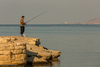 Fishing, Rethymnon, Crete, Greece, 2012