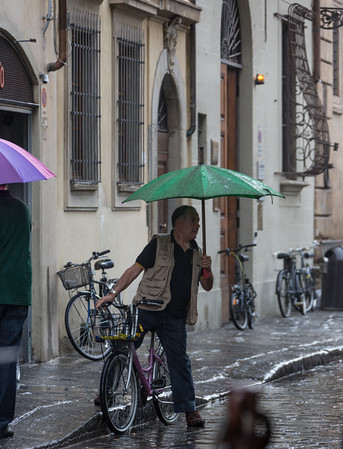 Umbrellas and Bikes