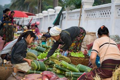 Banana Leaves, Produce Market