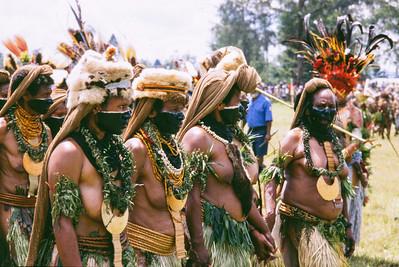 Black-faced Women, Hagen Show, Papua New Guinea, 2003