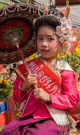 Umbrella Girl I, Flower Festival