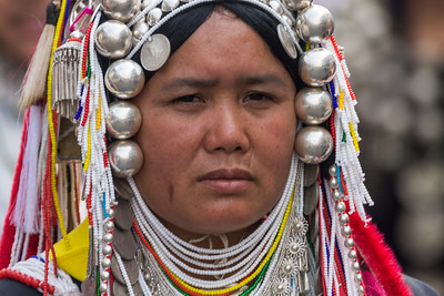 Akha Woman I, Flower Festival