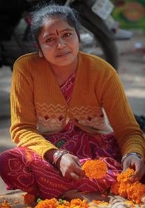 Stringing Marigolds