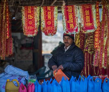 Vendor near the Garjiya Devi Temple