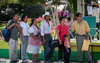 Bus Stop, Friday Market, Ocotlan, Mexico, 2006