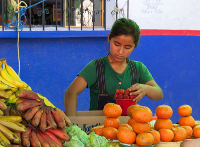 Fruit Vendor, Sunday Market, Tlacolula, Mexico, 2005