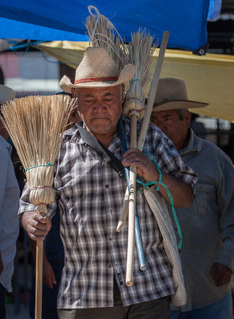Broom Vendor, Sunday Market, Tlacolula, Mexico, 2006