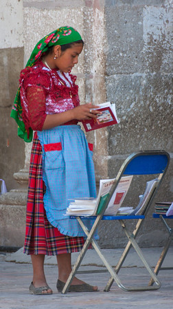 Reading, Sunday Market, Tlacolula, Mexico, 2006