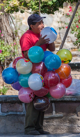 Balloon Seller, Sunday Market, Tlacolula, Mexico, 2006