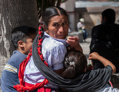 Braids. Sunday Market, Tlacolula, Mexico, 2006