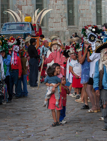 Enjoying the Parade, Oaxaca, Mexico, 2006