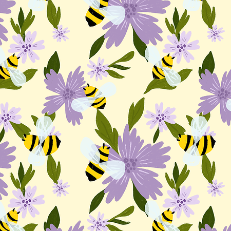 Bees Pattern