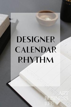 Designer annual Calendar rhythm