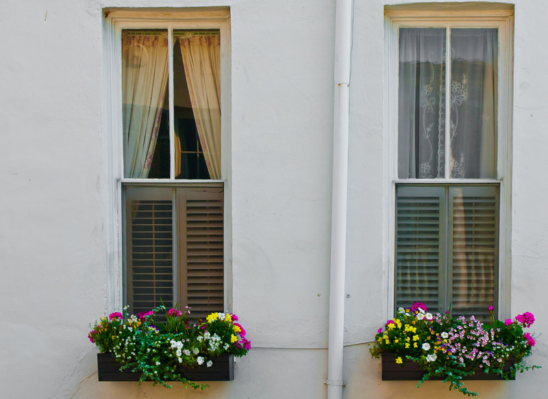 "<center><h2>' Side Windows '</h2> Charleston, SC  12""x16"", Luster paper (12 mil)</center>"