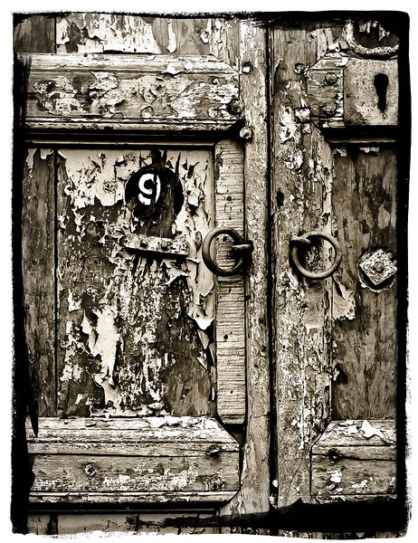 "<center><h2>' The Door at #9 '</h2>   12""x16"", on Fine Art Paper  or Luster Photo paper (12 mil) </center>"