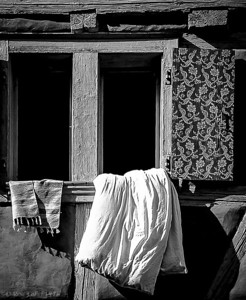 "'Airing Linen' Munich, Germany  Matted 16""x20"", on Luster Photo paper (12 mil)  © 1976 René Gallet"