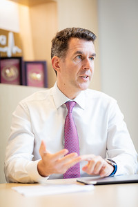 Interview with Angus Slater, Managing Director of Bupa in Hong Kong. June 12, 2019. Credit: Ben Marans.