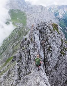 Balancing the NordKette ridge - Innsbruck, Austria