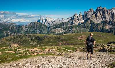 Heading into the Dolomite peaks - Italy