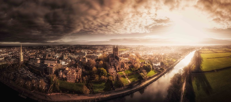 Worcester Skyline -  by Jan Sedlacek - www.digitlight.co.uk
