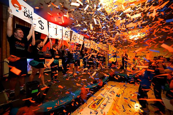 Seattle University's dance marathon raises $160,217 to benefit Seattle Children's Hospital's Strong Against Cancer Initiative.  Photo by: Winston O'Neil