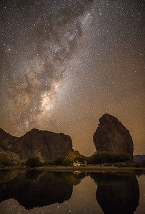 A big rock and the The Milky Way - Piedra Parada, Argentina