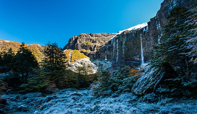 Winter Waterfall - Tronador, Argentina
