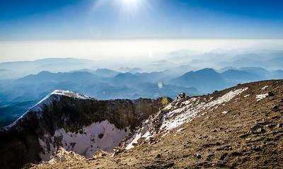 Peaks below - Mexico
