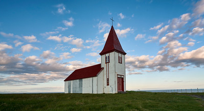 One of the many single structure churches you will see all over Iceland. Westernmost part of the Snæfellsnes peninsula, Hellnar