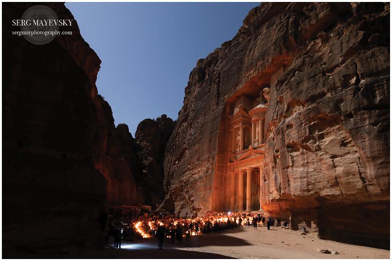Al-Khazneh (The Treasury) by Night